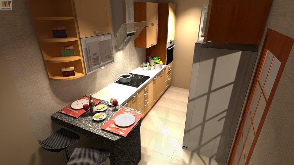 кухня с яркими деталями