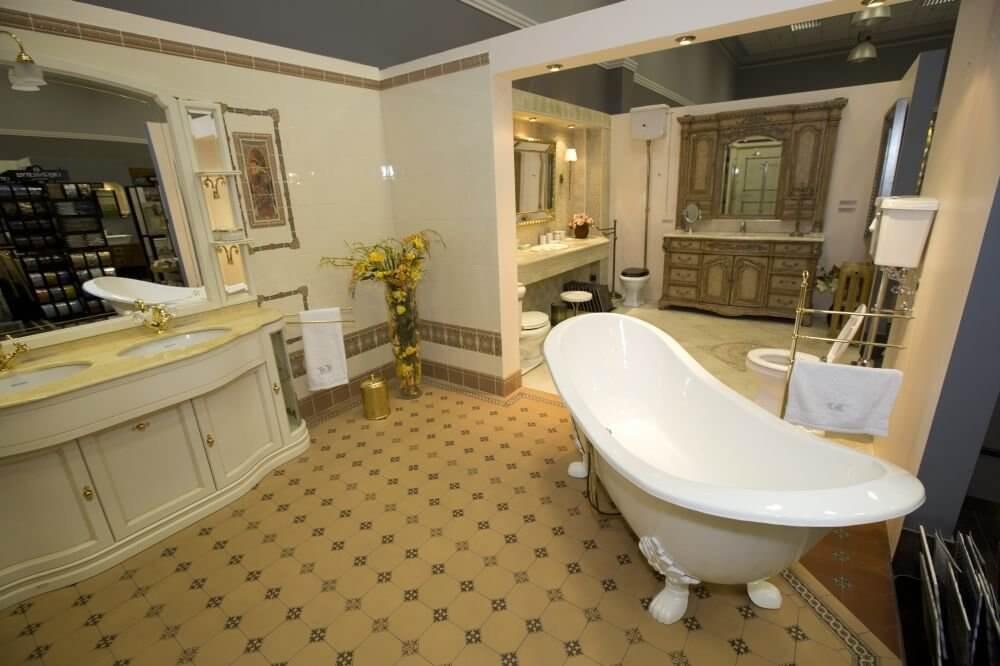 интерьер ванной в ретро стиле