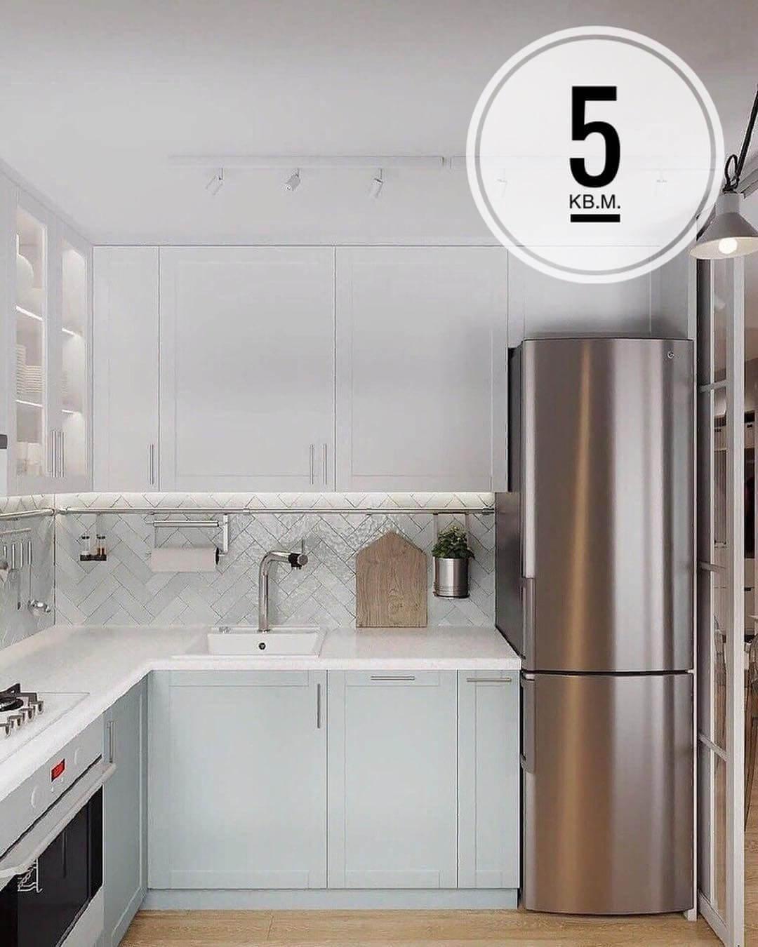 Г – образной кухни в белом цвете
