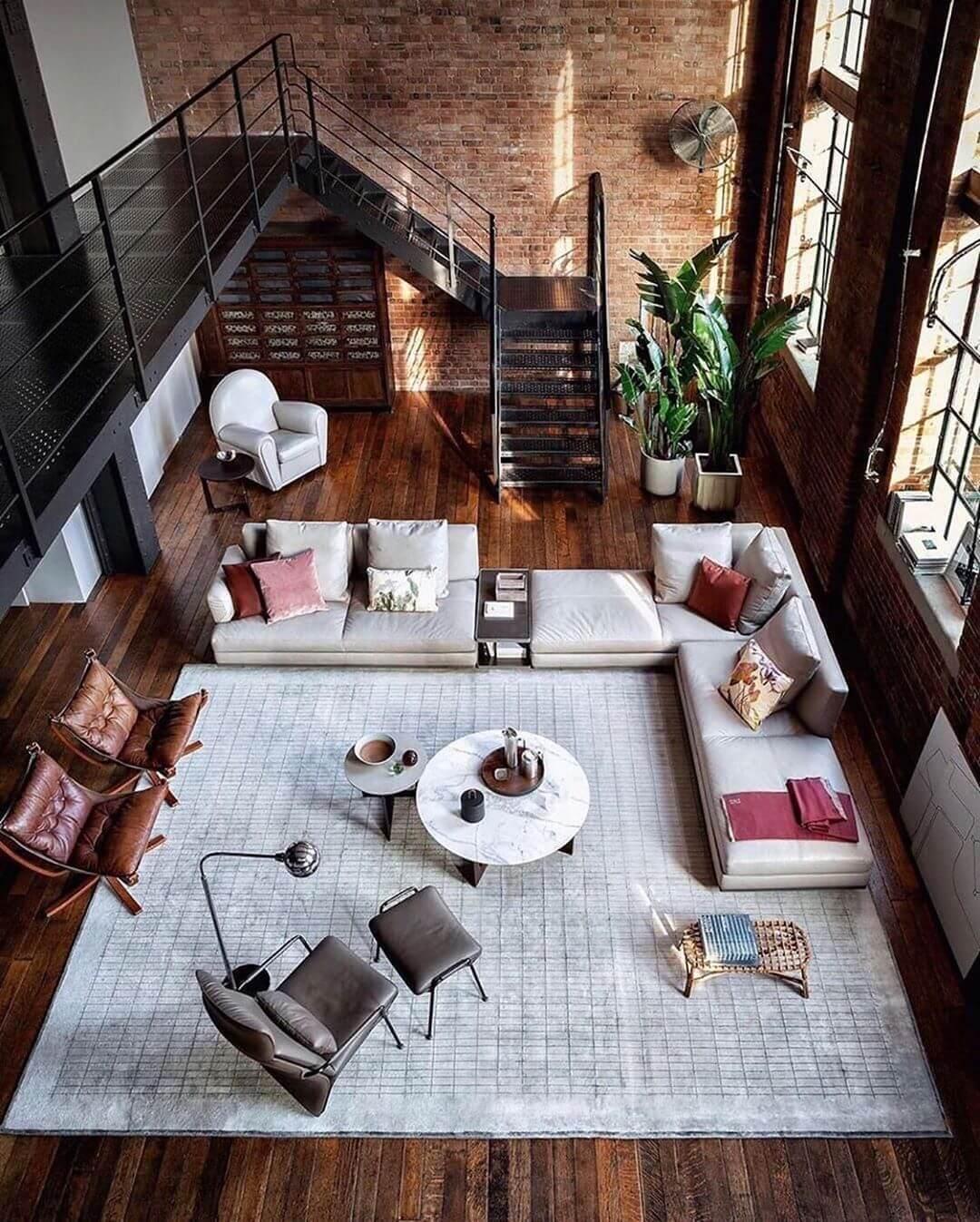 Интерьер пространства в стиле лофт