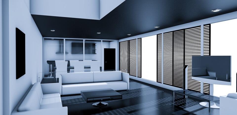 Черно-белая квартира в стиле минимализма