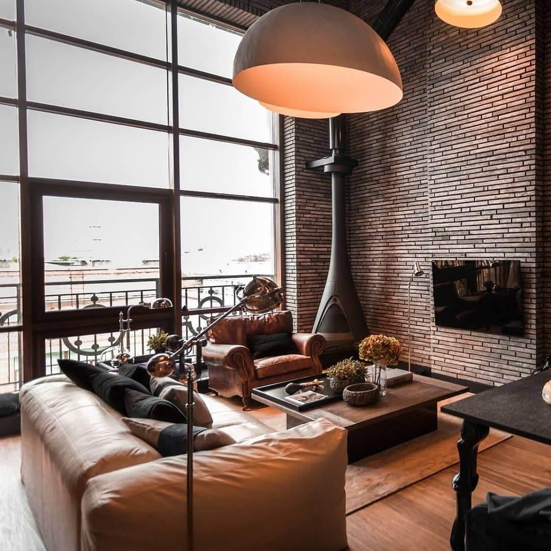 мягкая мебель в стиле лофт