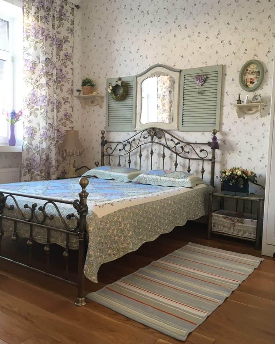 Прованский интерьер спальни