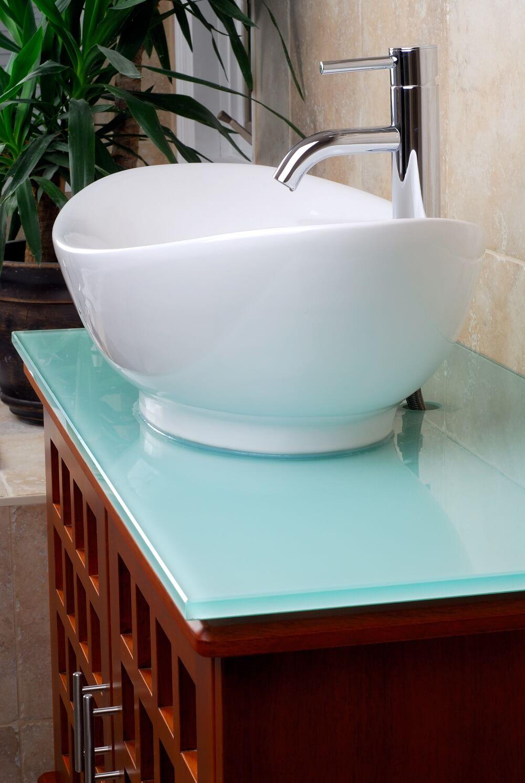 современный стиль бирюзовой ванной