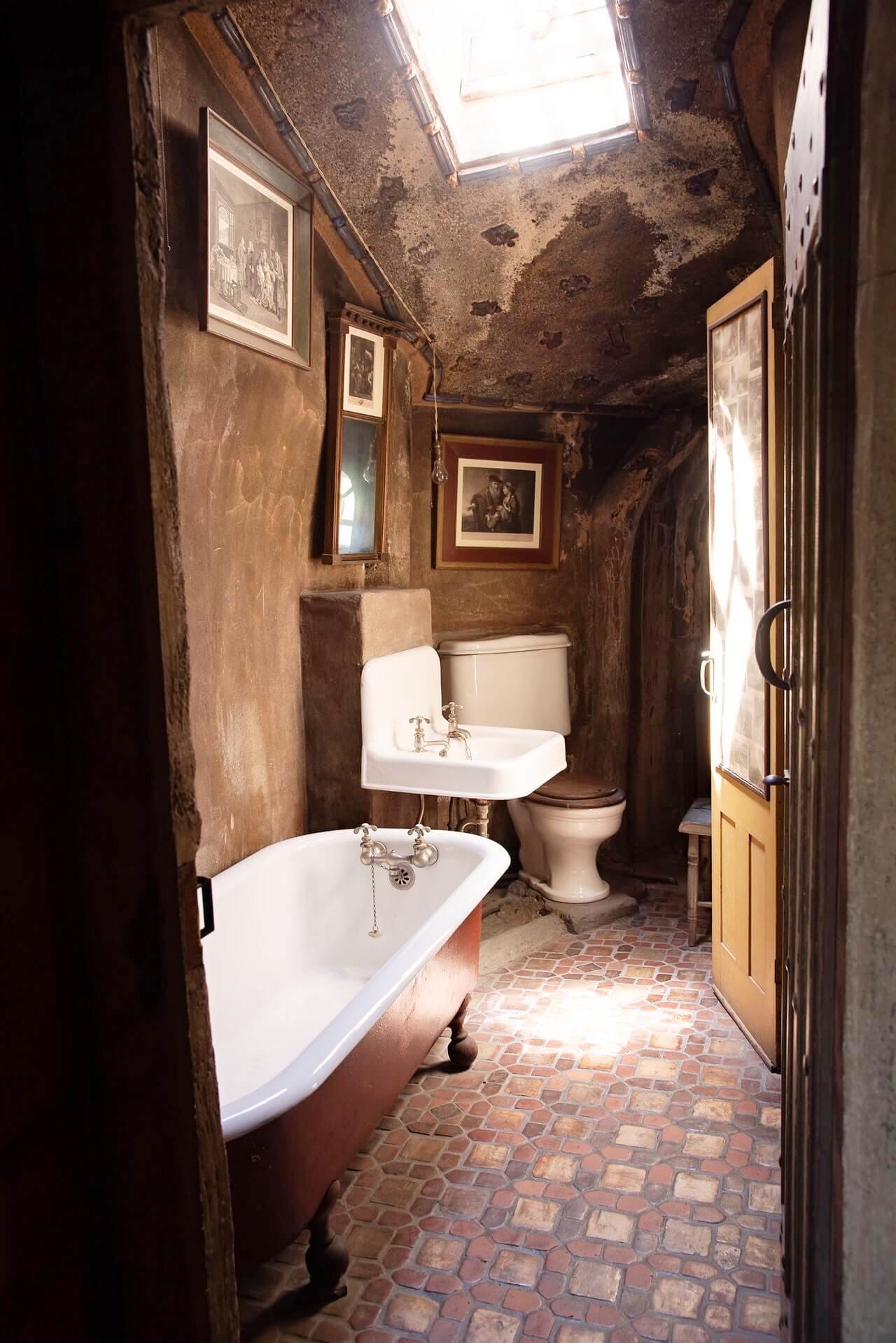 Плитка шебби-шик в интерьере ванной комнаты