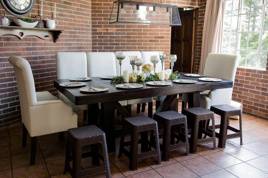 Кантри-мебель в обеденном зале