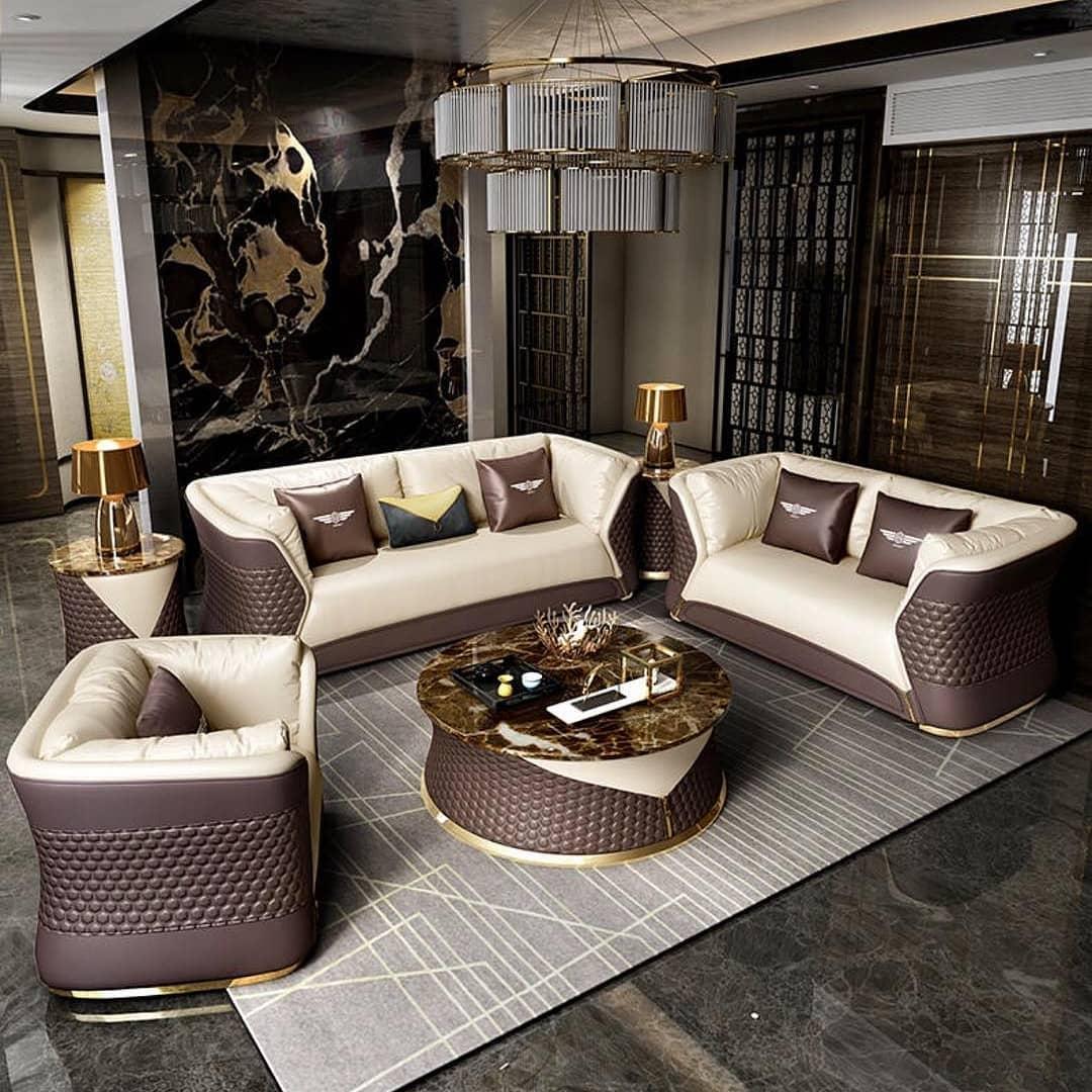 Современная гостиная в стиле Гэтсби