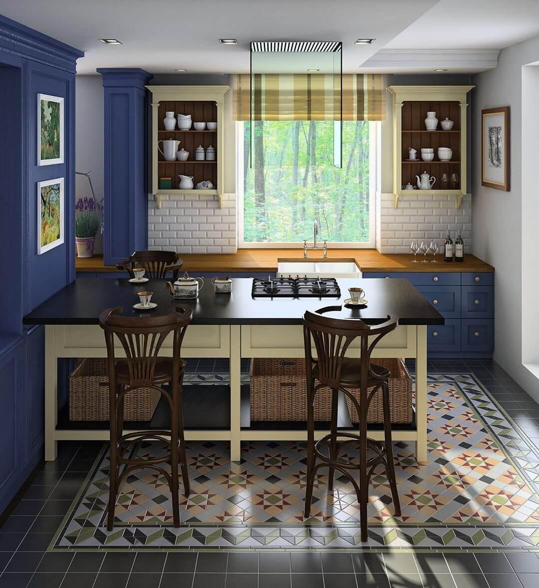кухни вдоль окна в английском стиле фото все уже