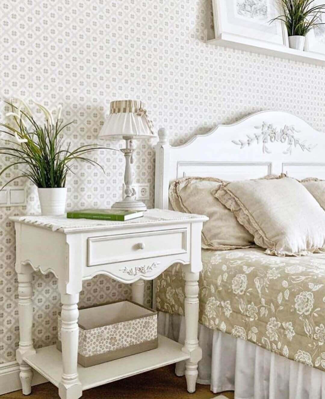 Стиль прованс в маленькой спальне