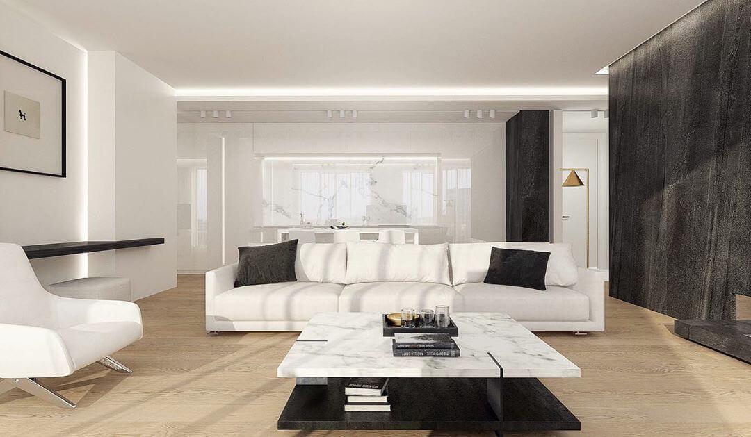 Современная минималистичная гостиная