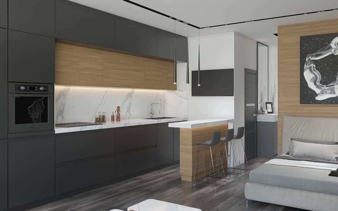 Небольшая квартира в стиле хай-тек