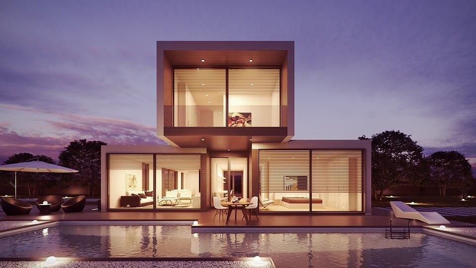 Загородный дом в минималистическом стиле