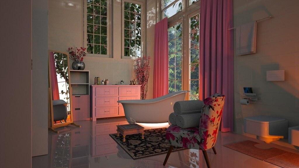 Элегантная классическая ваннаяя комната