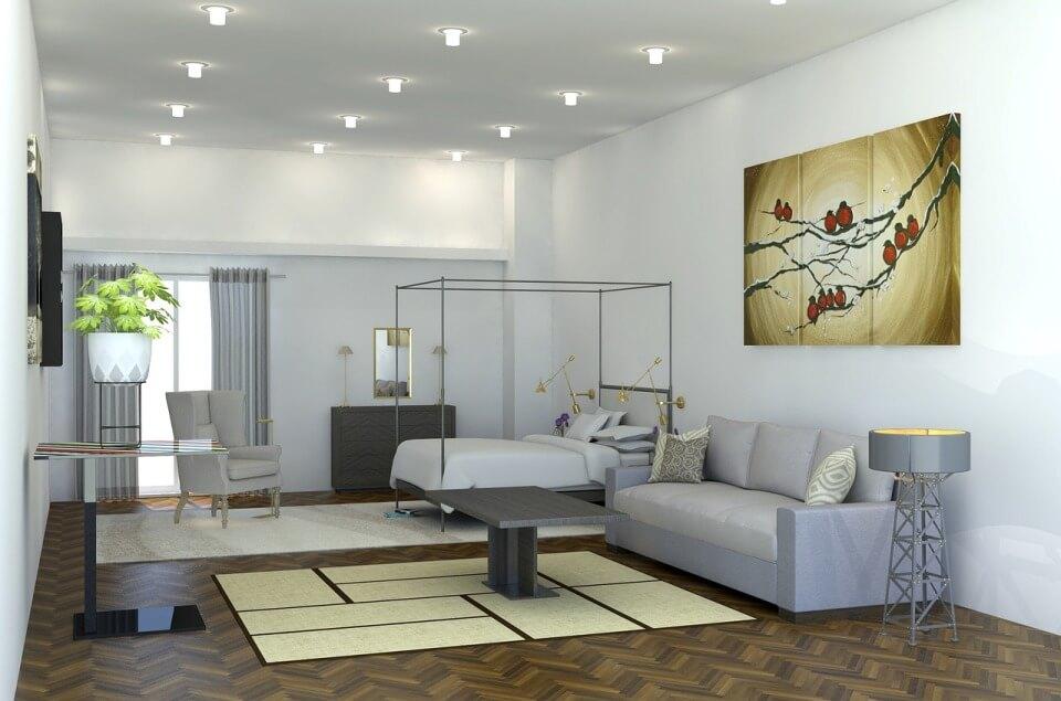 Светлые тона минимализма в маленькой квартире