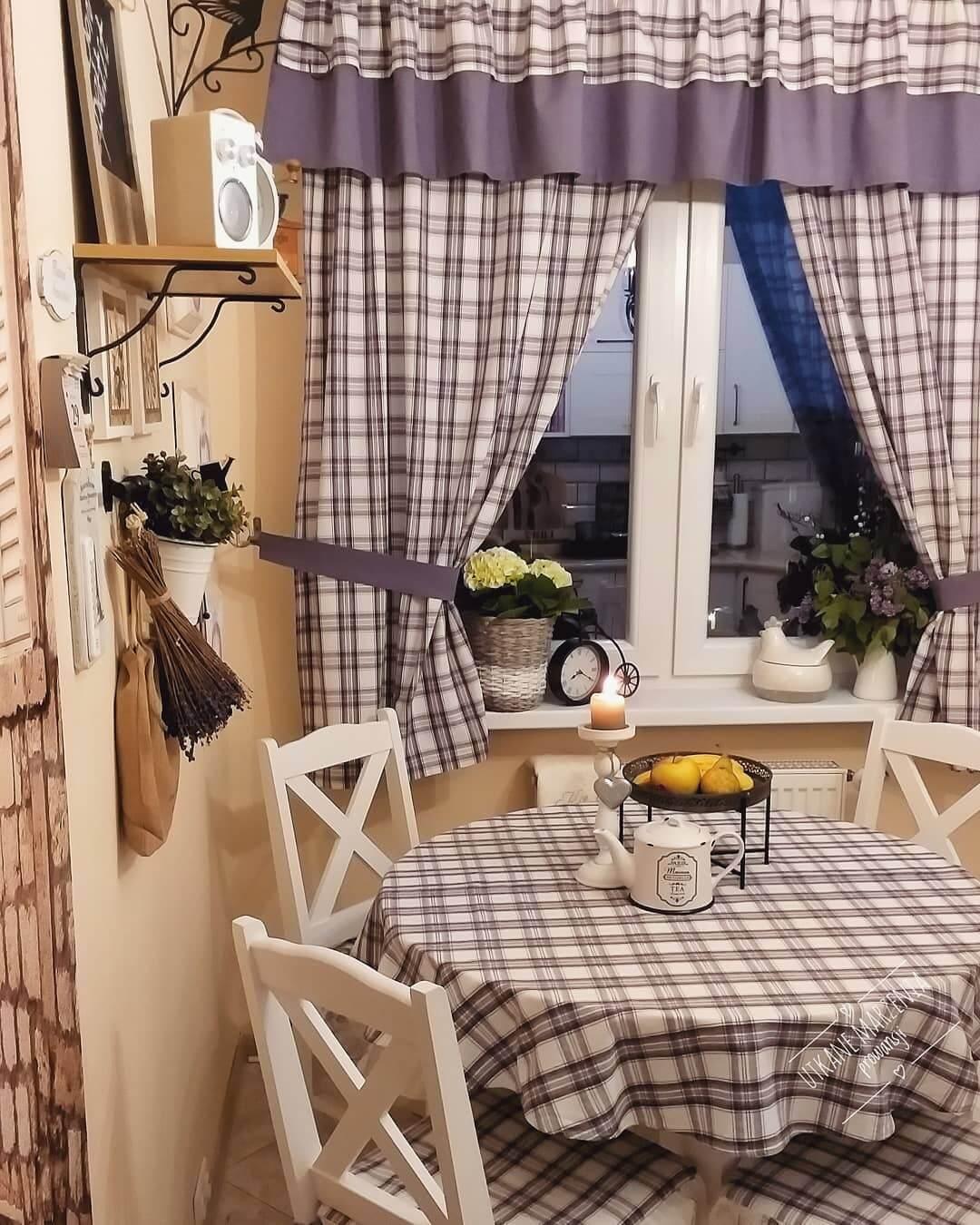 Занавески на кухню фото в стиле прованс