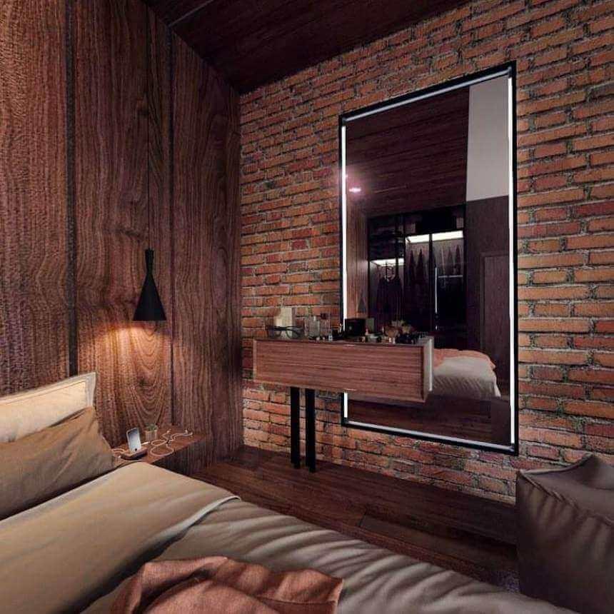 Стиль лофт в маленькой спальне