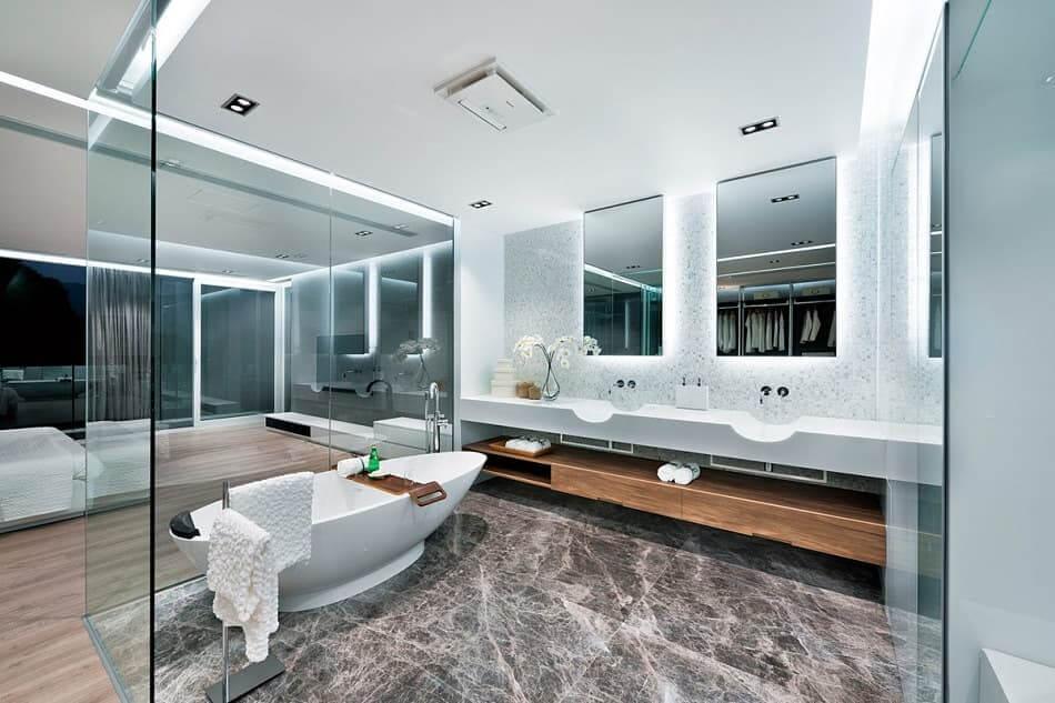 Дизайн помещения в стиле hi-tech