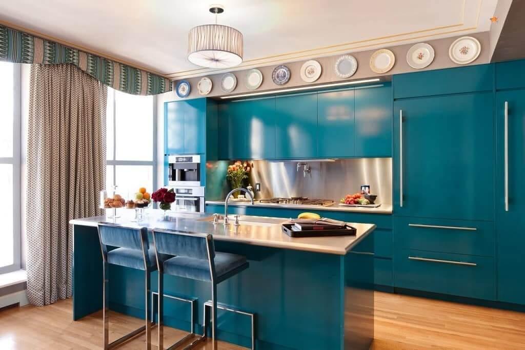 стиляная яркая кухня модерн