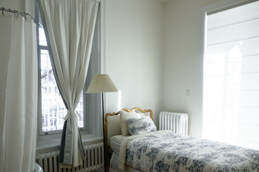цвета в дизайне маленькой спальни