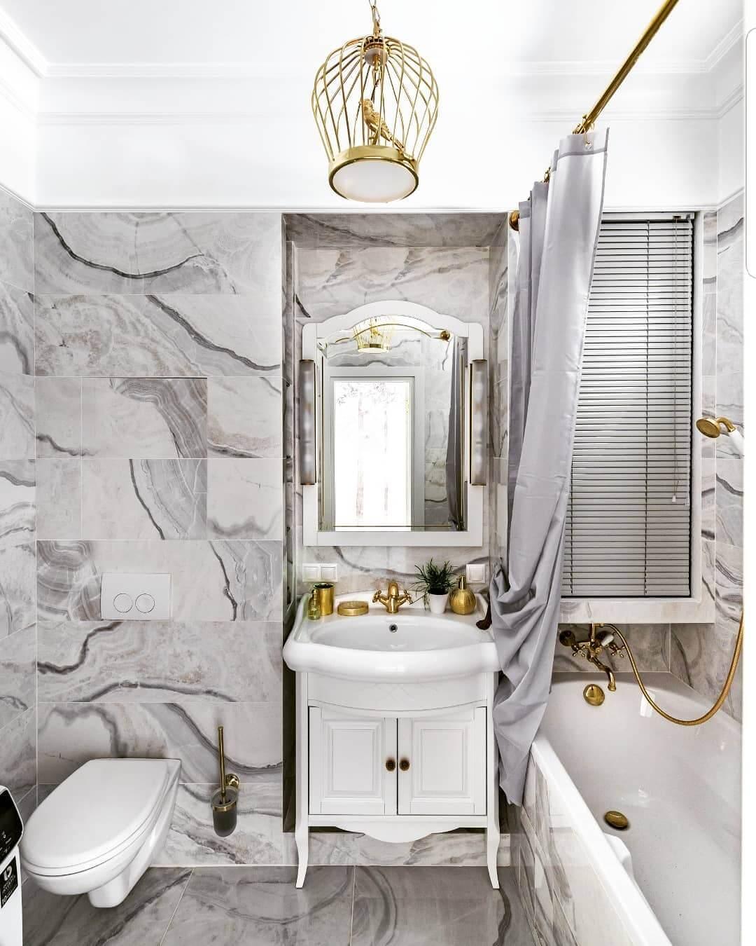 Дизайн серой ванной комнаты на фото