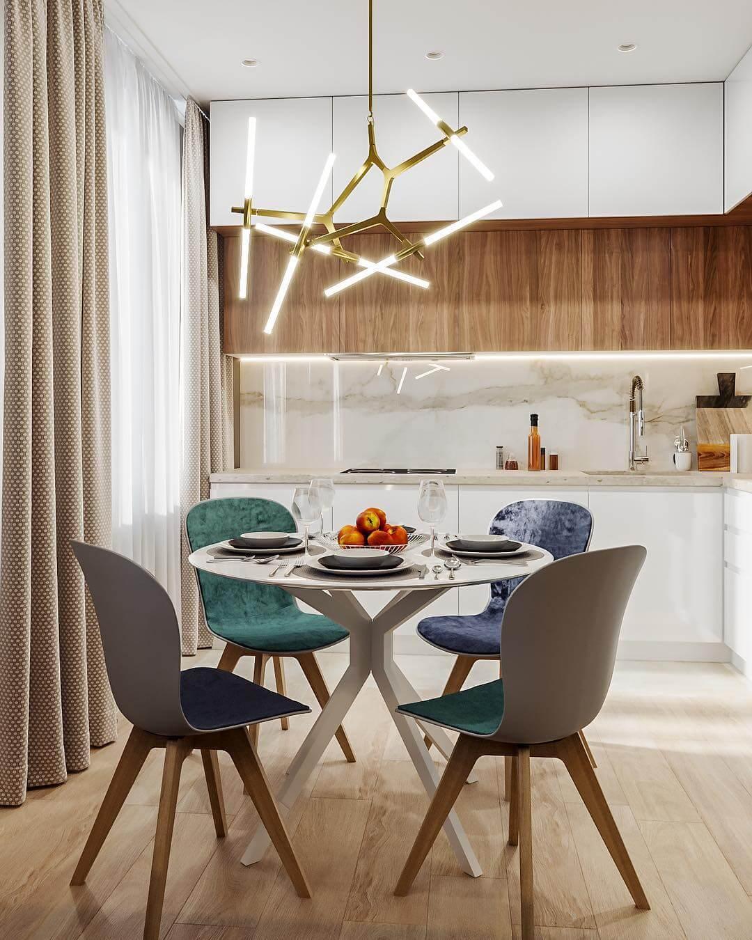 яркая минималистическая кухня