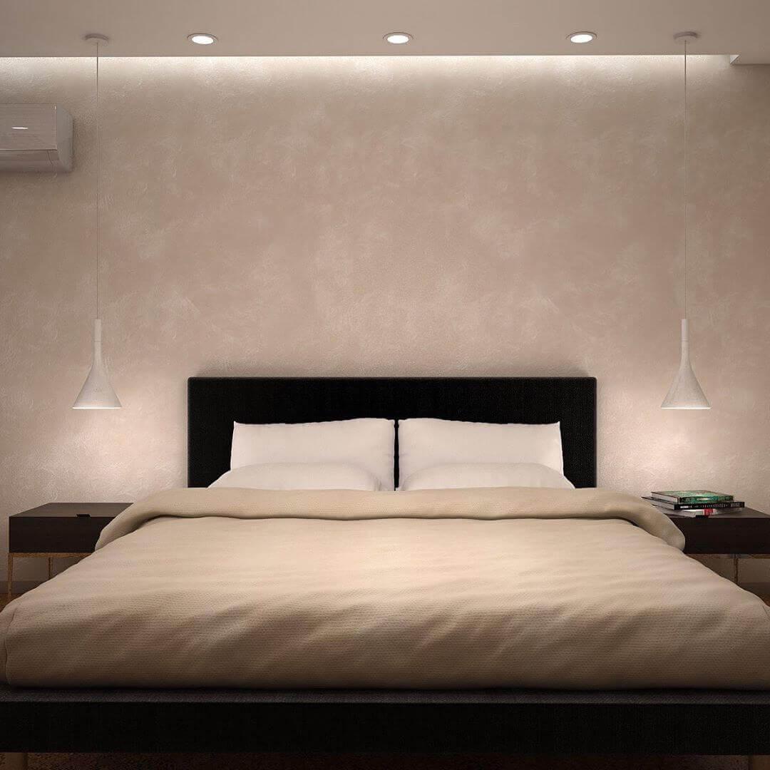 Стиль минимализм в маленькой спальне