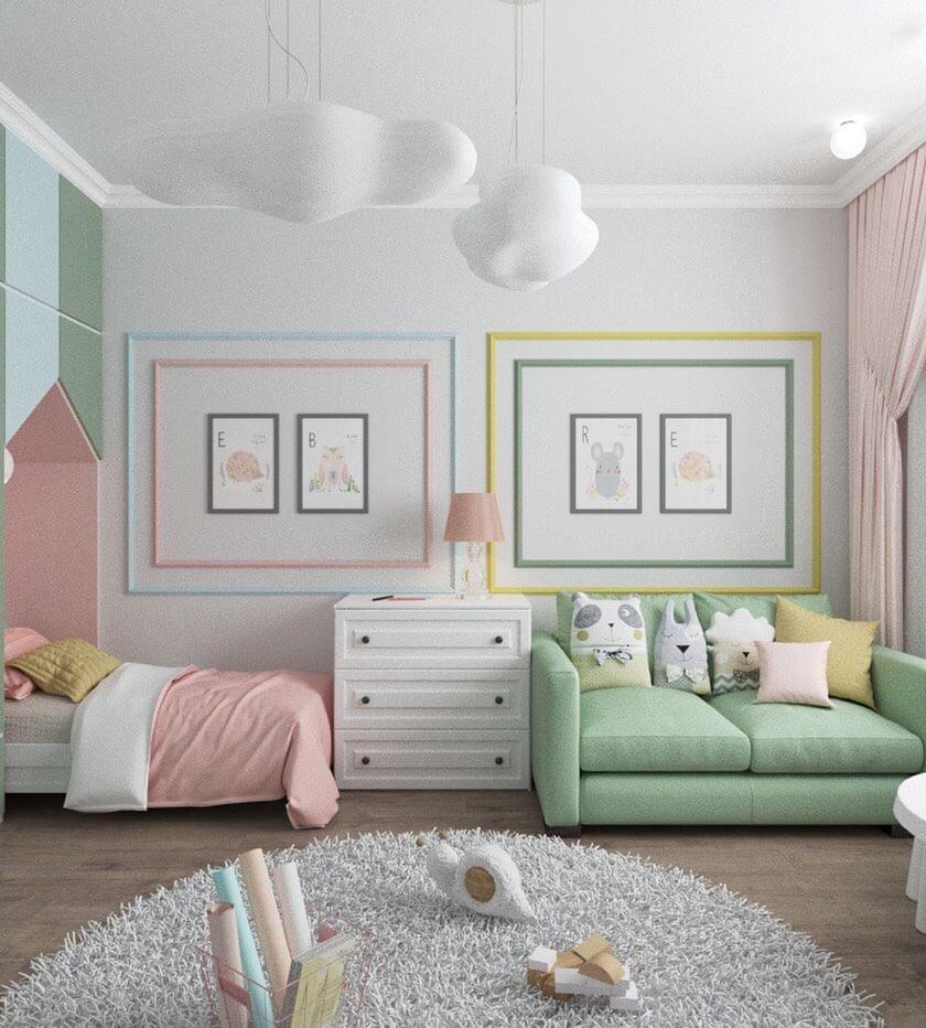 зонирование детской комнаты для мальчика и девочки