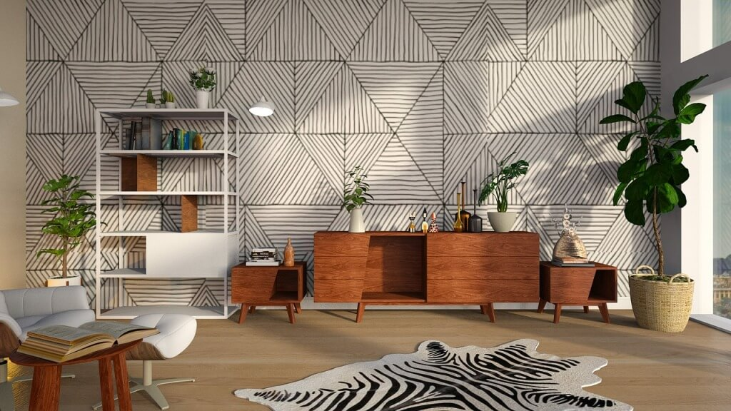 Эко-дизайн современной гостиной