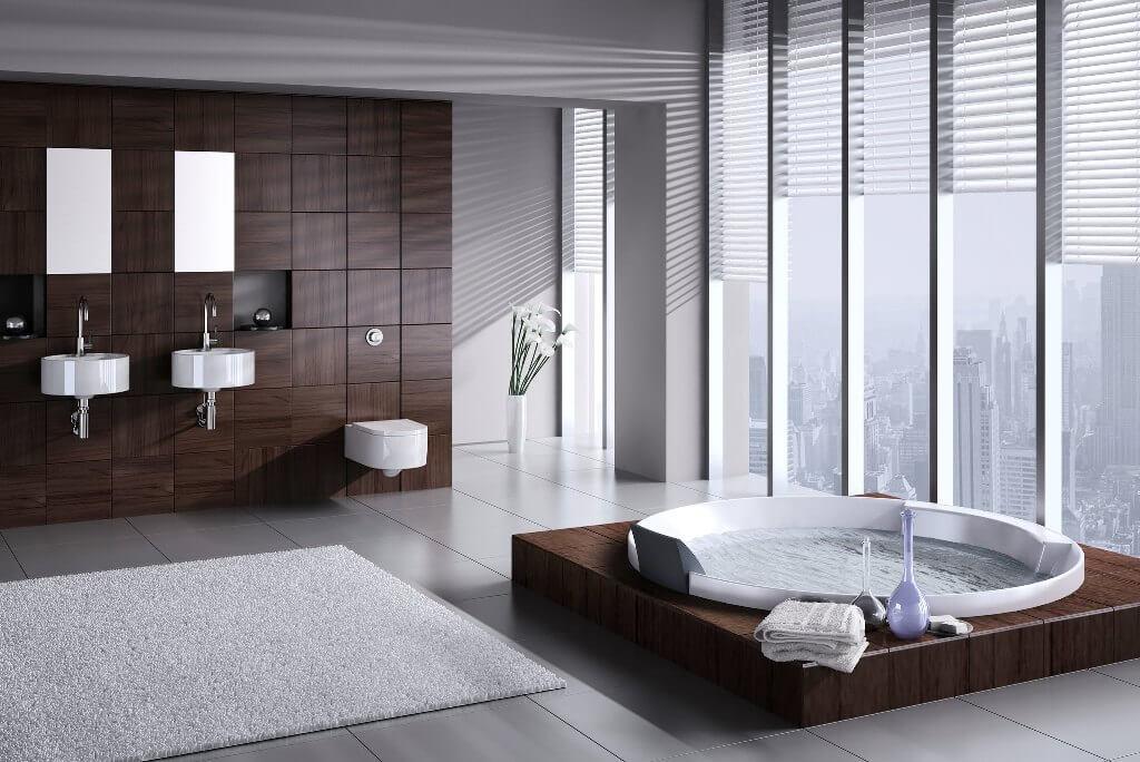 Роскошная ванная комната встиле хай-тек